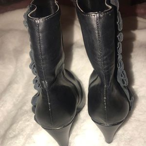 BCBGeneration Shoes - Black BCBG WEDGE ankle booties!! Must have!!